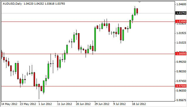 AUD/USD forecast July 23, 2012, Technical Analysis