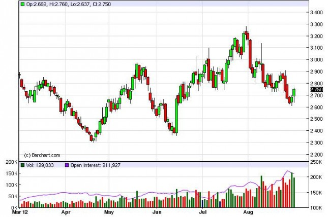 Natural Gas Forecast August 31, 2012, Technical Analysis