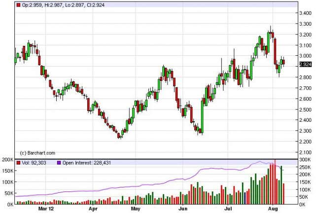 Natural Gas Forecast August 9, 2012, Technical Analysis