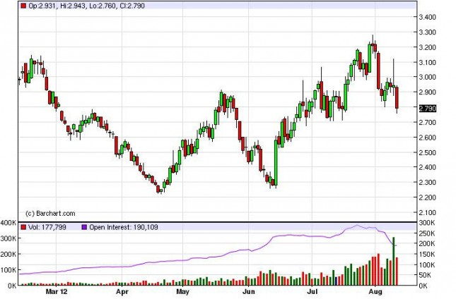 Natural Gas Forecast August 13, 2012, Technical Analysis