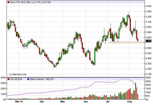 Natural Gas Forecast August 14, 2012, Technical Analysis