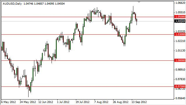 AUD/USD Forecast September 19, 2012, Technical Analysis