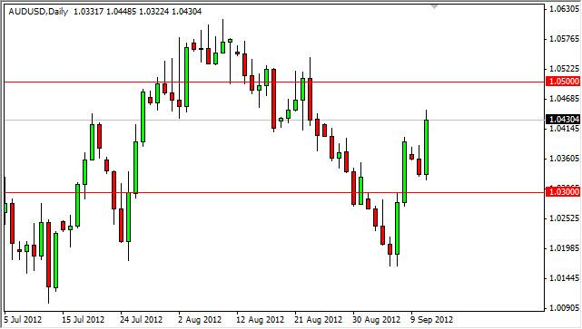 AUD/USD Forecast September 12, 2012, Technical Analysis