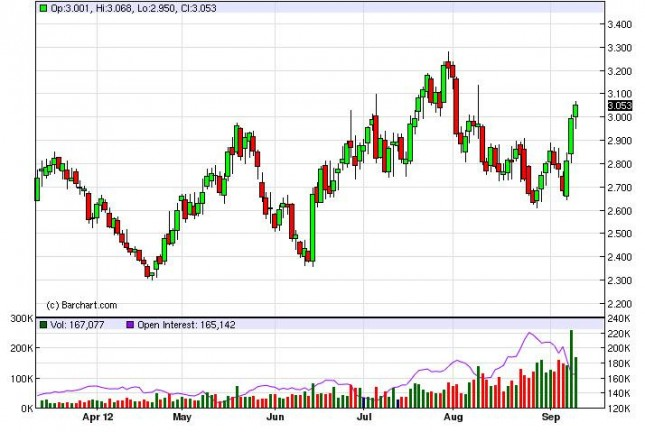 Natural Gas Forecast September 13, 2012, Technical Analysis