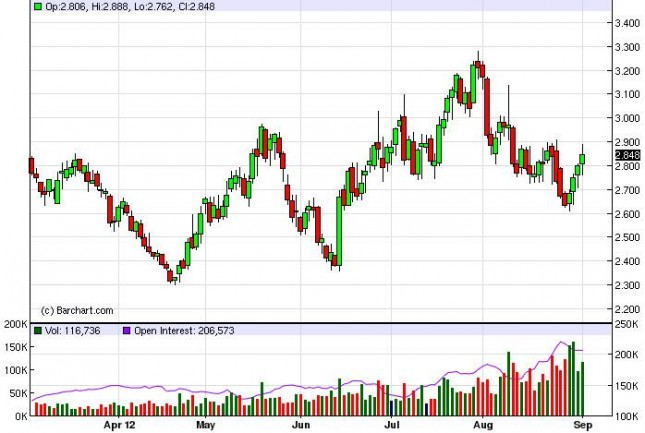 Natural Gas Forecast September 5, 2012, Technical Analysis