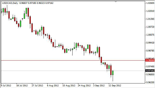 USD/CAD Forecast September 17, 2012, Technical Analysis